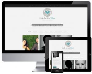 Création d'un site pour photographe [Lulu les bas bleus]