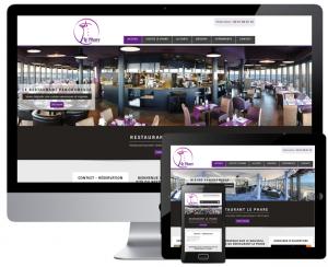Création du site du restaurant 'Le phare' à Palavas