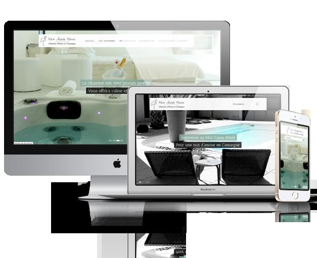 Création de site Type Hotel – Mas Sainte Marie