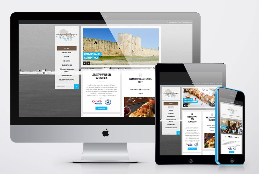 Site de présentation Restaurant des voyageurs