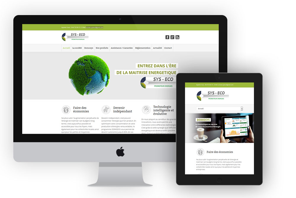 Site de présentation Sys Eco