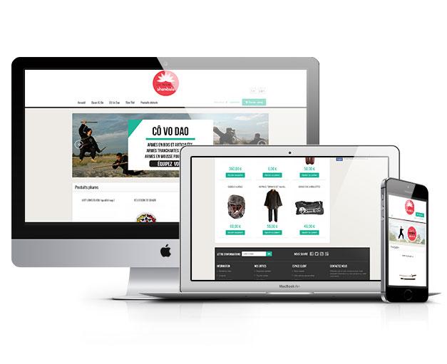 Site e-commerce Trésors de Shambala