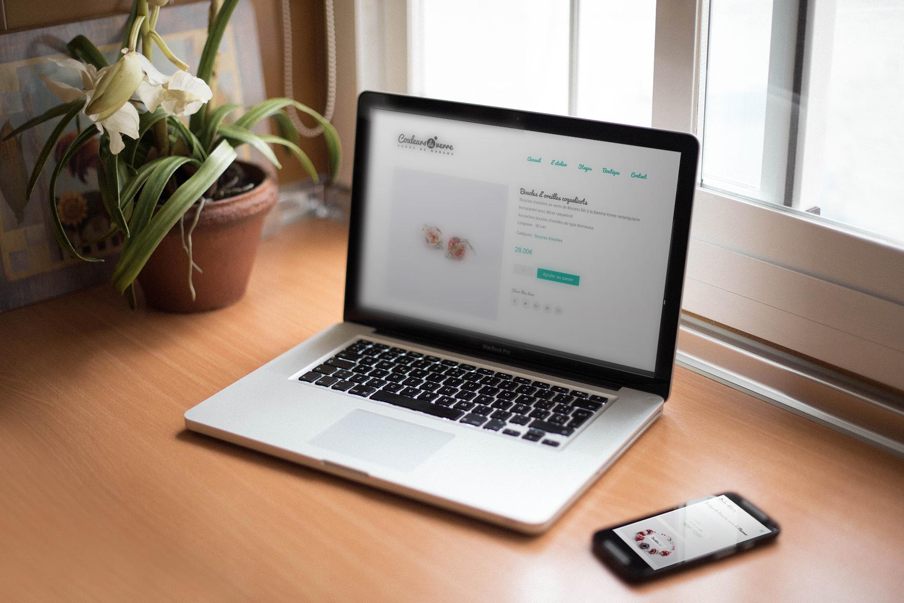 Boutique en ligne Woocommerce Couleur de verre