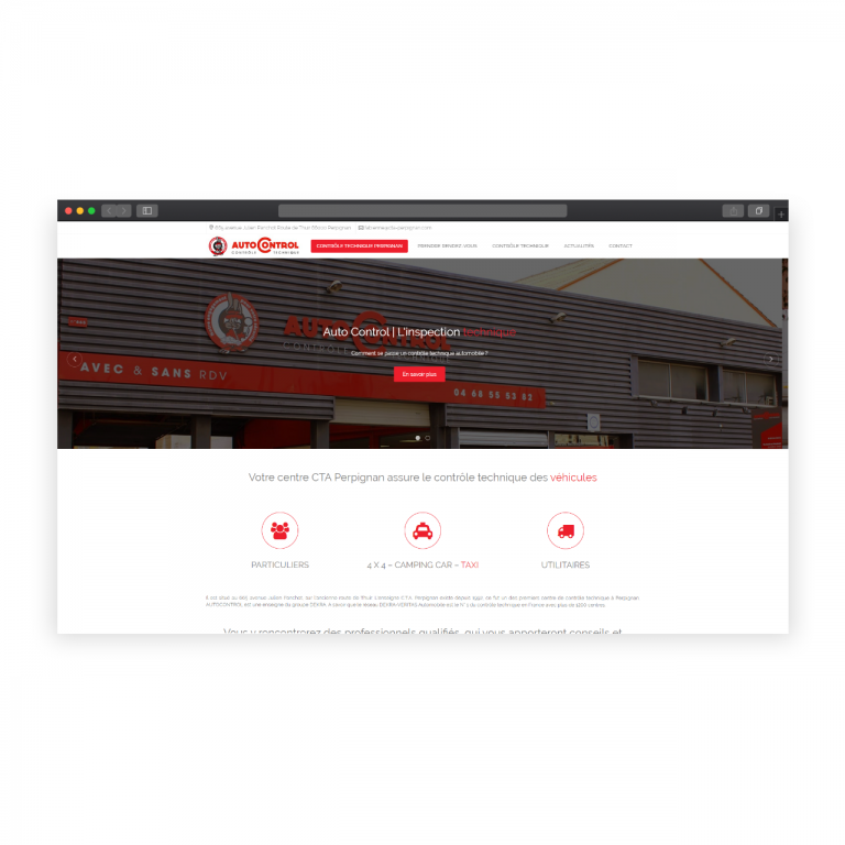 Création site de présentation – Centre de contrôle technique Perpignan