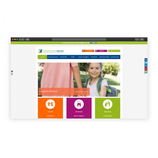 Site de présentation Présence Verte