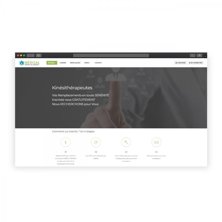 Création site de mise en relation – Médical Remplacement