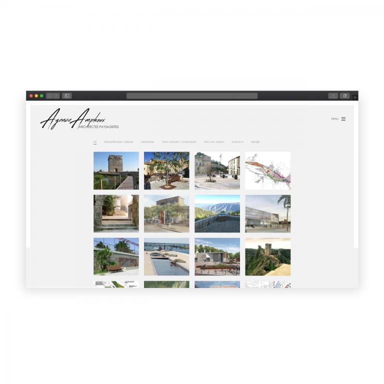 Création du site Agence Amphoux – Architectes paysagistes