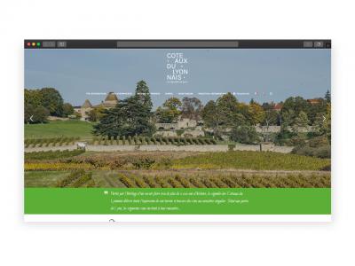 Création site de présentation – Coteaux du Lyonnais