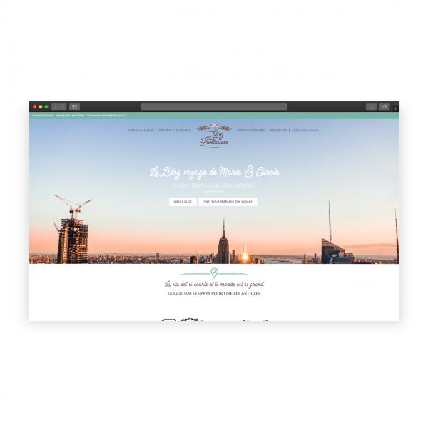 Création du site de mon Blog de Voyage – Blog Trotteuses