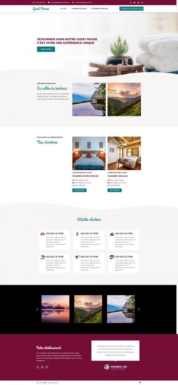 Modèle de site Maison d'hôtes