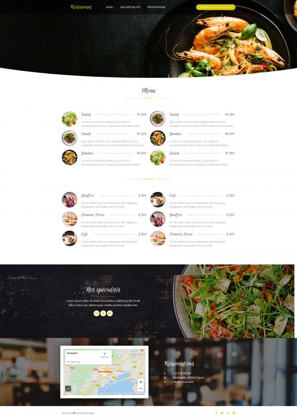 Modèle site Restaurant