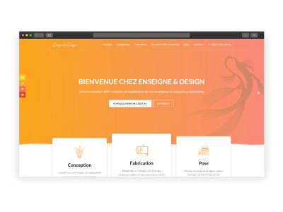 Création du site Enseigne & Design
