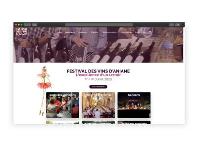 Création du site du festival de vins d'Aniane