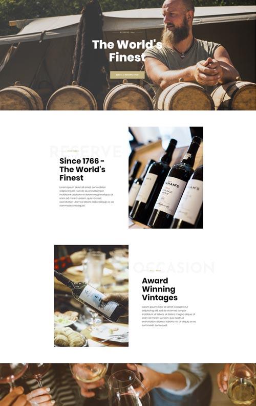 modèle site domaine viticole