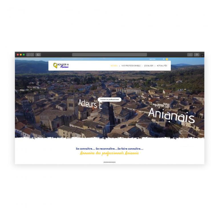 Création du site 'Bouger à Aniane'