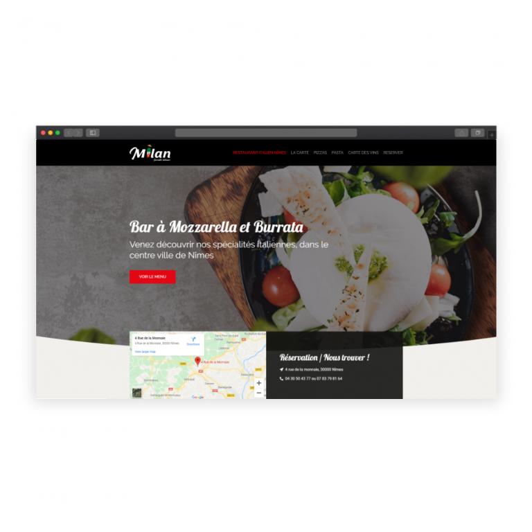 Création site restaurant italien à Nîmes