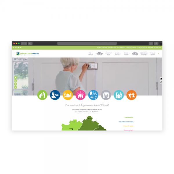 Refonte du site Présence Verte Services