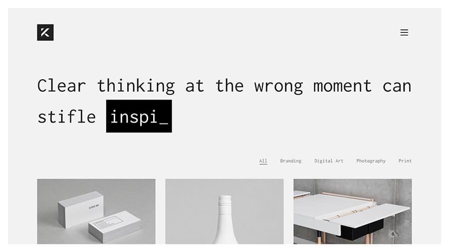 template portfolio wordpress