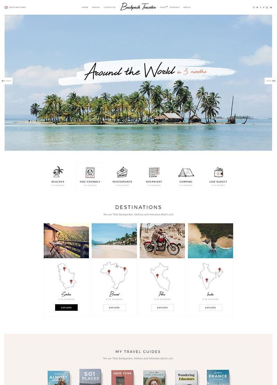 theme wordpress blog voyage
