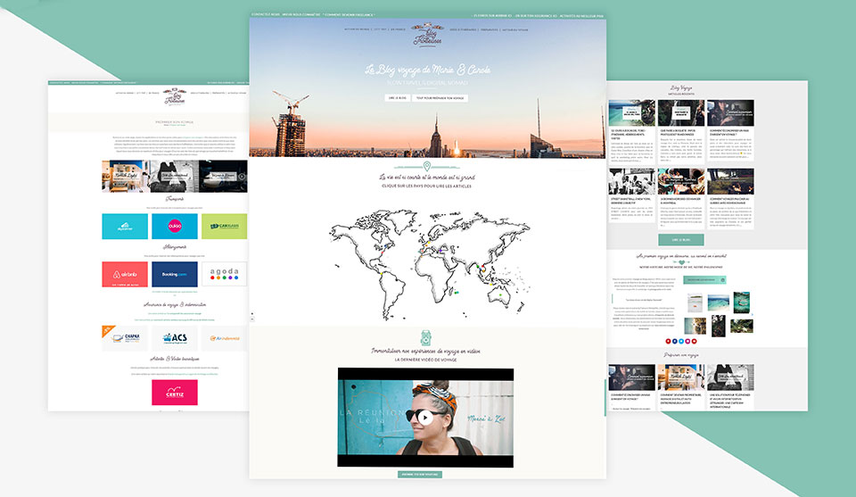 theme wordpress blog voyage