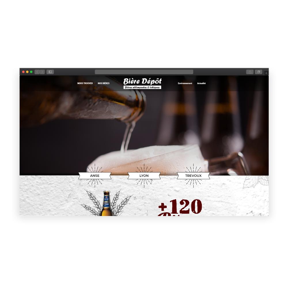 bière dépôt webdesign