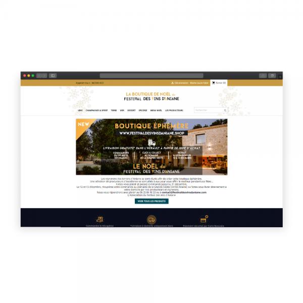 Boutique en ligne Ephémère en Click and Collect
