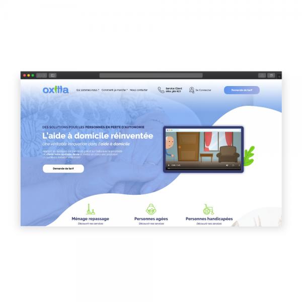 Webdesign Bootstrap pour Oxilia